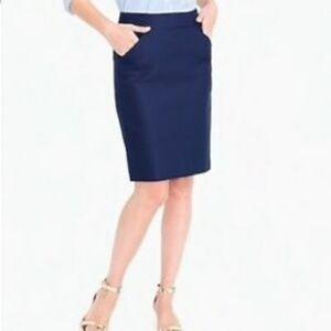 J. Crew Pencil Skirt Navy Blue  • i19xx